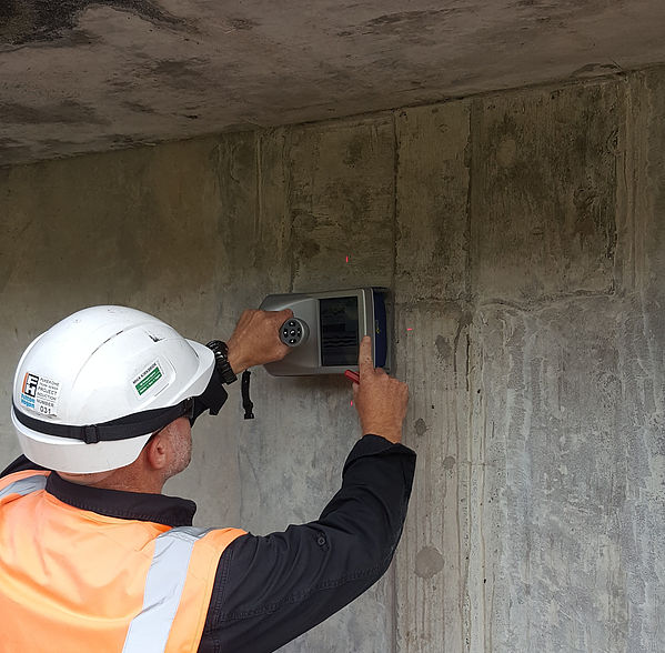 Watercare Reservoir Concrete Scanning